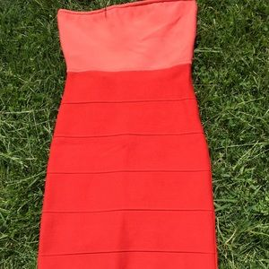 BCBG MaxAzria Fitted Colorblock Dress XS